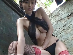 Asian Japanese Stockings Tease