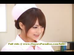 Asian Babe Cute Doctor Gorgeous Natural Nurses Nylon Teasing