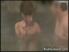 Asian Gorgeous Handjob Jerking Oriental
