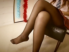 Footjob Japanese Pantyhose