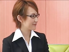 Japanese Threesome Group Sex Creampie Lesbians Office