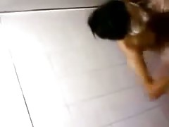 Asian Bathroom Teen Voyeur
