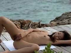 Teen Teasing Outdoor Masturbation Chinese Asian Angel