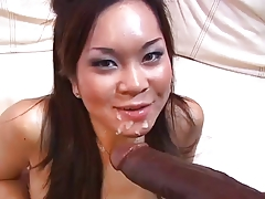 Huge Cock Fuck Ebony Cumshot Cum Black Asian Pornstar Interracial