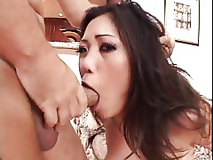 Huge Cock Deepthroat Blowjob Asian Throat Pornstar