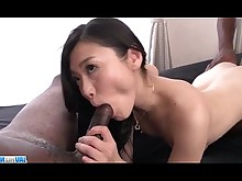 Threesome Asian Black Blowjob Hardcore Interracial Japanese MILF Pussy
