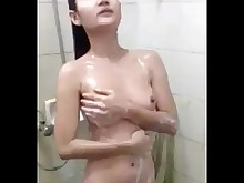 Amateur Asian Homemade Indonesian Shower Tease