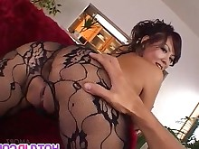Asian Ass Cute Fingering Hairy Japanese Lingerie MILF Pantyhose