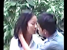 Voyeur Thai Spycam Really Public Outdoor Couple Asian