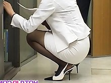 Nylon Office Pantyhose Asian Black Cum Cumshot Fetish Foot Fetish